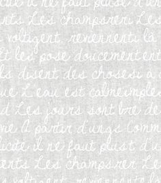 Keepsake Calico Fabric- French Words On White at Joann.com