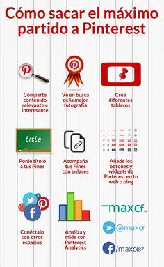 #Infografia #RedesSociales Cómo sacar el máximo partido a Pinterest en tu estrategia social. #TAVnews