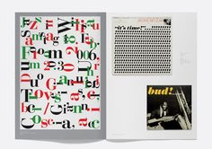Examples of the ways in while Italian typeface Bodoni has been used through the ages. This is a spread from a book about typography titled Made in Italy - Bodoni in print. This book is a part of en exhibition that celebrates Bodoni, on at London based gallery Protein from the 10th of June.
