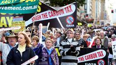 Carbon protesters hit the streets. July 2, 2012. about 6 or 7 thousand. - A Carbon Tax Rally
