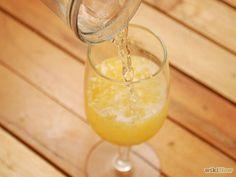 Bellini.............(pureed peach and sparkling wine)