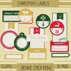 Denise Creationz: Christmas Labels