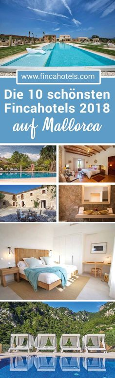 TOP 10 - the most beautiful finca and country hotels in Mallorca for your vacation . - TOP 10 – the most beautiful finca and country hotels in Mallorca for your vacation in Major - Design Hotel, Hotel Am Meer, Bathing Photos, Country Hotel, Reisen In Europa, Next Holiday, Beautiful Places In The World, Spain Travel, Wonders Of The World