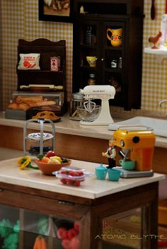 #miniature dollhouse kitchen  Need a mixmaster for my bakery...emg