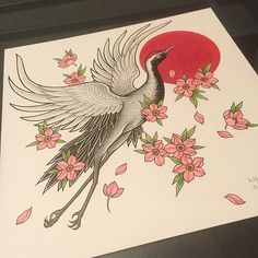 Japanese crane and cherry blossom artwork by @nghia_redbuddha #tattoo #tattoos #tattooed #tattooart #tattooartist #art #artist #ink #inked #inkedup #inkedgirls #girlswithtattoos #crane #cranetattoo #japanesecrane #redbuddhatattoo #asianart #orientalart #japaneseart #japanesetattoo #orientaltattoo #asiantattoo