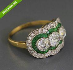 EGL Certified Antique Art Deco 18k Gold 1.29ct Diamond by shopccj