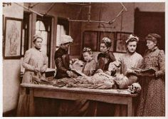 Women in the dissection room, Women's Medical College of Pennsylvania, 1892.