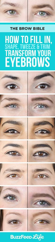 Brow Shaping Tutorials - Fill in, Shape, Tweeze, Trim and Transform Your Eyebrows - Awesome Makeup Tips for How To Get Beautiful Arches, Amazing Eye Looks and Perfect Eyebrows - Make Up Products and B (Makeup Step Beauty Tricks) Beauty Make-up, Beauty Hacks, Hair Beauty, Luxury Beauty, How To Trim Eyebrows, Perfect Eyebrows, Natural Eyebrows, Eyebrow Makeup, Beauty Tricks