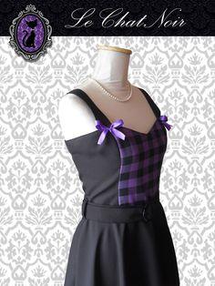 Vestido PIN UP Cuadrillé violeta y negro, con falda plato.  #vestidopinup #vestidoplato #modapinup #estilopinup #vestido #moños #pinupdress #pinupstyle #pinupfashion #Dresses #ropa #indumentaria #pinup