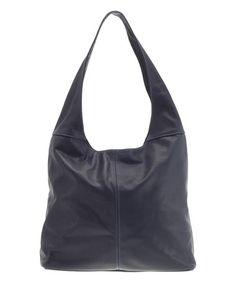 Look at this #zulilyfind! Blue Crescent Leather Hobo #zulilyfinds
