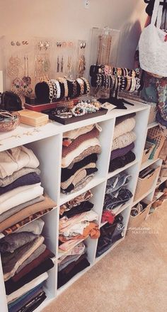 "Employ visual marketing techniques in your home to increase your material satisfaction. Organize your bedroom like a boutique to increase ease in getting dressed...it also gives me a much more positive view of my ""stuff,"" & gives me the pleasure of the shopping/acquisition feeling without spending $"