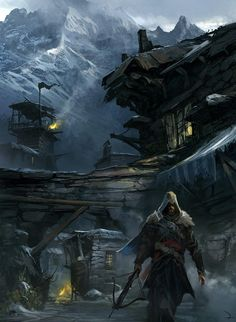 Leaving Masyaf Fortress from Assassin's Creed: Revelations