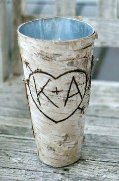 """Birch Bark Vases 9""""  $5.99 each / 3 or more $4.50 each"""