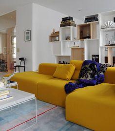 MAGS sofa van HAY... Mooi, flexibel, kwalitatieve Kvadrat stoffen, strakke vormgeving, goed zitcomfort....