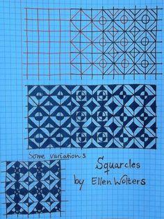 Tekenpraktijk De Innerlijke Wereld: TANGLE PATRONEN Tangle: Squarcles