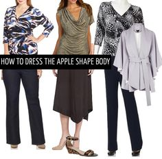 How to dress the apple body shape
