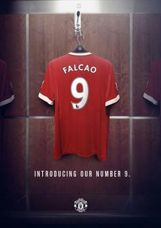 Everyone can't wait to see FALCAO pull on the no.9 shirt for the Red Devils !!!