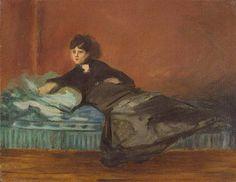 Berthe on a Divan, by Edouard Manet