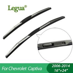 "Legua Wiper blades for Chevrolet Captiva(2006-2014),16""+24"",car wiper,3 Section Rubber, windscreen wiper, Car accessory. Yesterday's price: US $22.86 (19.94 EUR). Today's price: US $13.03 (11.45 EUR). Discount: 43%."