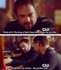 [gifset] SPN Spoilers -CW Promo. Crowley pretty much begging for Dean to stay...lol!