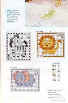 Resultado de imagen para revistas baby punto de cruz motivos de animales de la selva