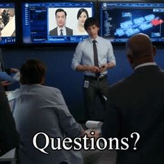 """Questions?.... Hope you're not raising your hands."" - Auggie Anderson, Covert Affairs (Gif)"