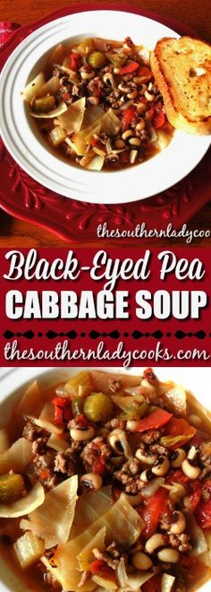 BLACK-EYED PEA CABBAGE SOUP - The Southern Lady Cooks