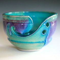 Yarn Bowl, handmade stoneware pottery,handmade ceramic yarn bowl, Ready to Ship