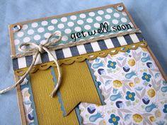 Get Well Card, Feel Better Card, Sorry You're Sick Card, layered card, handmade card,