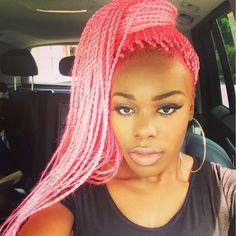pink bxbraids black women - Google Search