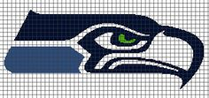 Seattle Seahawks Crochet Graphghan Pattern (Chart/Graph AND Row-by-Row Written Instructions)