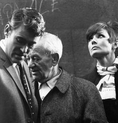 Peter O'Toole, Audrey Hepburn and William Wyler on the set of 'How to Steal a Million' (director: William Wyler, 1966). Photo by Terry O'Neill.