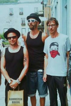 Paul Landers, Flake Lorenz and Oliver Riedel