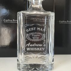 Awesome custom designed whiskey decanters. The perfect gift for groomsmen, birthdays, anniversaries and so much more.