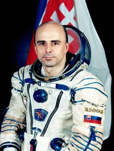 IVAN BELLA - First Slovak Astronaut, on 20th Feb. 1999 from Kazachstan in the Sojuz TM-29, the austronauts were from Slovakia, Russia and France