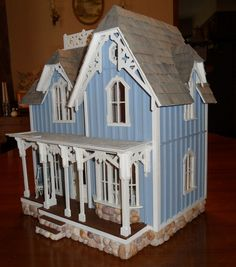 This is another half scale dollhouse that I built recently.
