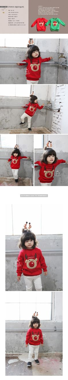 Awesome Kacakid children warm sweatshirts boys girls thicken velvet cartoon hoodies shirt kids cute elk soft coat christam gift - $29.46 - Buy it Now!