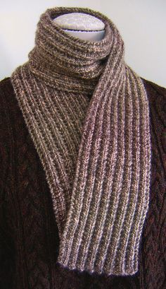 free pattern. Makes a beautiful scarf, especially good for a man's scarf. Super easy and fun stitch. (used this to make a scarf from chenille from the Quarter Stitch)