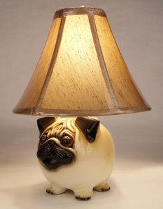 """Puggy Lamp...I would totally put this in the living room...I'm one of """"those"""" people :D"""