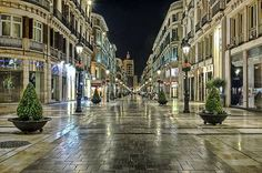 Calle Larios, Málaga's historic main drag. Exclusive shops nowadays