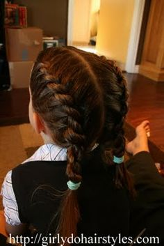 Two Strand Braid: I want to do this to Brianna's hair!!!  Maybe she will be still long enough!