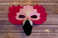 Francesca the Flamingo Mask Costume for pretend by HuntingFaeries