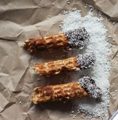 All sizes   Waffles Dipped in Chocolate and Coconut   Flickr - Photo Sharing!