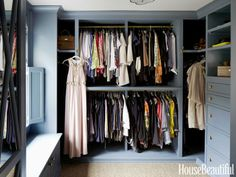 Your closet doesn't have to be a dull, white shade - paint it your favorite color.