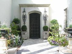 Mulholland estate remodel and furnish - mediterranean - entry - los angeles - Andrea Michaelson Design