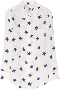 Equipment Reese star-print washed-silk shirt NET-A-PORTER.COM