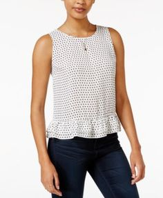 Maison Jules Ruffle-Hem Top, Only at Macy's  Now $29.99    Orig. $49.50 EXTRA 20% OFF USE TWODAY code: TWODAY details