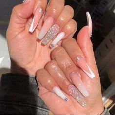 Cute Acrylic Nails 451556300141510116 - Source by leslxy_ Bling Acrylic Nails, Acrylic Nails Coffin Short, White Acrylic Nails, Square Acrylic Nails, Aycrlic Nails, Summer Acrylic Nails, Best Acrylic Nails, Bling Nails, Swag Nails