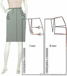 Patterns skirts - My World Of Fashion - Courses Sewing Patterns Techniques Couture, Sewing Techniques, Dress Sewing Patterns, Clothing Patterns, Sewing Clothes, Diy Clothes, Sewing Alterations, Pattern Cutting, Pattern Drafting