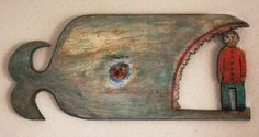 """Jonah Standing Up!"" by James Coby Neill Whale Decor, Art Through The Ages, Art Carved, Seashell Art, Driftwood Art, Naive Art, Sculpture Art, Sculptures, Sacred Art"